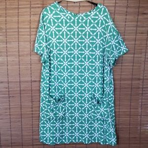 Boden short sleeve tunic dress plus size 18